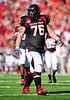 02 January 2009:  <br /> Texas Tech offensive lineman Brandon Carter (76) in action during the NCAA Cotton Bowl game between the Ole Miss Rebels and the Texas Tech Red Raiders in Dallas,TX.  Ole Miss beat Texas Tech 47-34.<br /> Manny Flores/Icon SMI