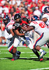 02 January 2009:  <br /> Texas Tech defensive end Sandy Riley (46) in action during the NCAA Cotton Bowl game between the Ole Miss Rebels and the Texas Tech Red Raiders in Dallas,TX.  Ole Miss beat Texas Tech 47-34.<br /> Manny Flores/Icon SMI