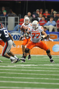 Jan 2nd, 2009  Oklahoma State offensive lineman Noah Franklin #77 at the 2010 AT&T Cotton Bowl Classic between the Ole Miss Rebels and the Oklahoma State Cowboys at the Cowboy Stadium in Arlington, Texas. Ole Miss wins 21-7 (Credit Image: © Manny Flores/Cal Sport Media)