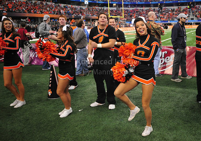 Jan 2nd, 2009  Oklahoma Cheerleaders in action at the 2010 AT&T Cotton Bowl Classic between the Ole Miss Rebels and the Oklahoma State Cowboys at the Cowboy Stadium in Arlington, Texas. Ole Miss wins 21-7 (Credit Image: © Manny Flores/Cal Sport Media)