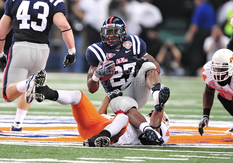 Jan 2nd 2009 Br Mississippi Running Back Enrique Davis 27 Is