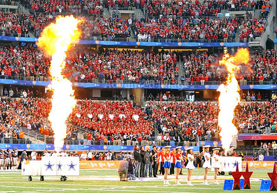 Jan 2nd, 2009  The Eli Young Band sang he National Anthem at the 2010 AT&T Cotton Bowl Classic between the Ole Miss Rebels and the Oklahoma State Cowboys at the Cowboy Stadium in Arlington, Texas. Ole Miss wins 21-7 (Credit Image: © Manny Flores/Cal Sport Media)