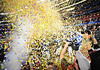 Jan 2nd, 2009 <br /> Ole Miss celebrates with blown confetti afer the 2010 AT&T Cotton Bowl Classic between the Ole Miss Rebels and the Oklahoma State Cowboys at the Cowboy Stadium in Arlington, Texas.<br /> Ole Miss wins 21-7<br /> (Credit Image: © Manny Flores/Cal Sport Media)