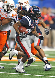 Jan 2nd, 2009  Mississippi running back Dexter McCluster #22 in action at the 2010 AT&T Cotton Bowl Classic between the Ole Miss Rebels and the Oklahoma State Cowboys at the Cowboy Stadium in Arlington, Texas. Ole Miss wins 21-7 (Credit Image: © Manny Flores/Cal Sport Media)