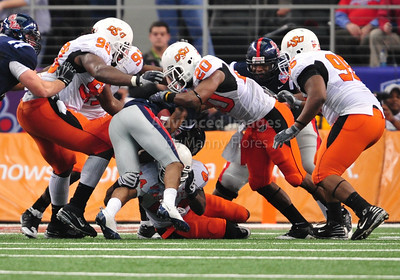 Jan 2nd, 2009  Oklahoma State linebacker Andre Sexton #20 in action at the 2010 AT&T Cotton Bowl Classic between the Ole Miss Rebels and the Oklahoma State Cowboys at the Cowboy Stadium in Arlington, Texas. Ole Miss wins 21-7 (Credit Image: © Manny Flores/Cal Sport Media)