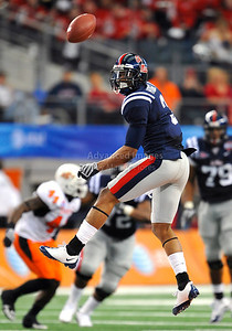 Jan 2nd, 2009  Mississippi wide receiver Shay Hodge #3 in action at the 2010 AT&T Cotton Bowl Classic between the Ole Miss Rebels and the Oklahoma State Cowboys at the Cowboy Stadium in Arlington, Texas. Ole Miss wins 21-7 (Credit Image: © Manny Flores/Cal Sport Media)