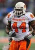 Jan 2nd, 2009 <br /> Oklahoma State linebacker Donald Booker #44<br /> at the 2010 AT&T Cotton Bowl Classic between the Ole Miss Rebels and the Oklahoma State Cowboys at the Cowboy Stadium in Arlington, Texas.<br /> Ole Miss wins 21-7<br /> (Credit Image: © Manny Flores/Cal Sport Media)