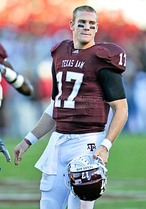 OCT 30 2010:   Texas A&M Aggies quarterback Ryan Tannehill #17 in action in a game between Texas Tech Red Raiders and Texas A&M Aggies at Kyle Field Stadium in College Station, Texas.  Aggies win 45-27. (Credit Image: © Manny Flores/Cal Sport Media)