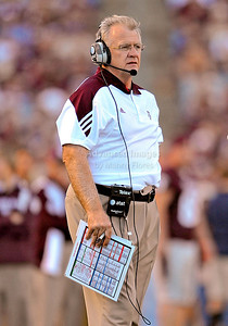 OCT 30 2010:   Texas A&M head coach Mike Sherman in action in a game between Texas Tech Red Raiders and Texas A&M Aggies at Kyle Field Stadium in College Station, Texas.  Aggies win 45-27. (Credit Image: © Manny Flores/Cal Sport Media)
