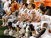 The Texas bench late in the 4th quarter with Texas trailing in the game.