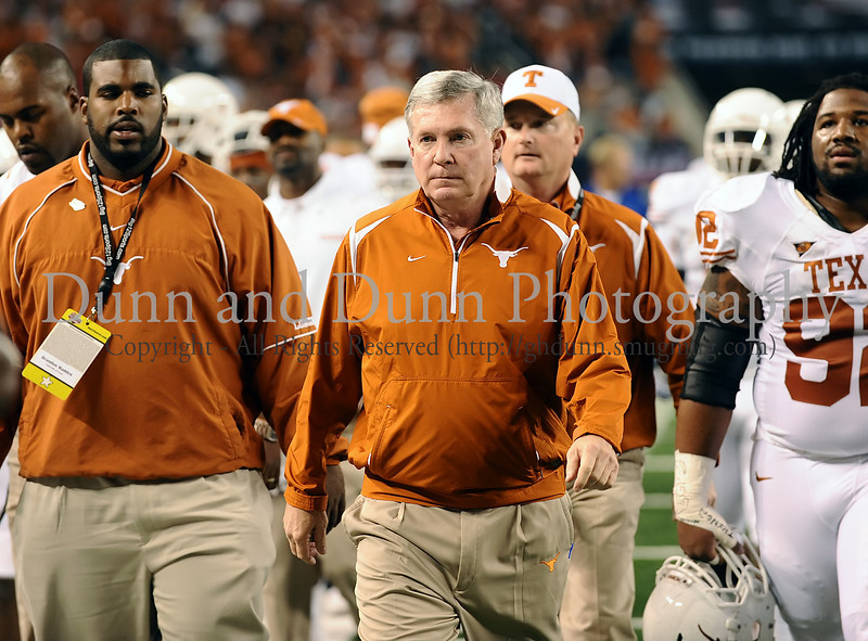 Texas head coach Mack Brown prior to the start of the 2009 Big 12 Championship Game.