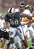 04 Sept 2010:  <br /> TCU Horned Frogs defensive end Stansly Maponga #90 rushes the QB in a game between the Oregon State Beavers vs TCU Horned Frogs at Cowboy Stadium in Arlington Texas.<br /> TCU wins 30-21