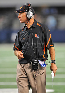 Sept 4 2010:   Oregon State Beavers Head Coach Mike Riley in a game between Oregon State Beavers vs Texas Christian University Frogs at Cowboys Stadium in Arlington, Texas. TCU wins 30-21 (Credit Image: © Manny Flores/Cal Sport Media)