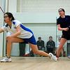 Dora Hui (white) and Meg Oliverio (blue)