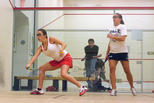 Kaitlin Vinci (Yale) and Alexandra Glassman (Cornell)<br /> <br /> This photo was published in the December 2009 issue of Squash Magazine (page 29).