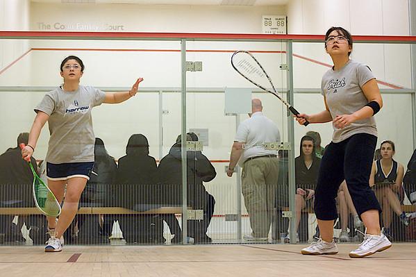 Kristine So (Notre Dame) and Violetta Shubayeva (Drexel)