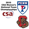 2010 Women's National Team Championships: #1s - Yarden Odinak (Penn) and Liza Stokes (Cornell)
