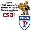 2010 Women's National Team Championships: #1s - Pamela Hathway (Trinity) and Kristen Lange (Penn)