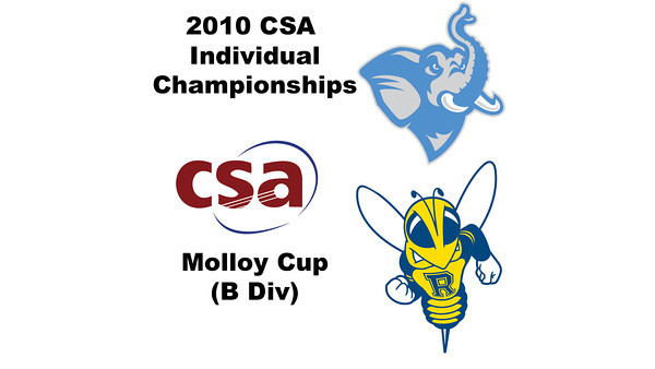 2010 CSA Individuals - Molloy Cup (B Div) Con Quarters: Juan Pablo Gaviria (Rochester) and Alex Gross (Tufts)