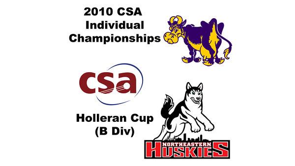 2010 CSA Individuals - Holleran Cup (B Div) Con Semis: Laura Henry (Williams) and Tessa Martin (Northeastern)