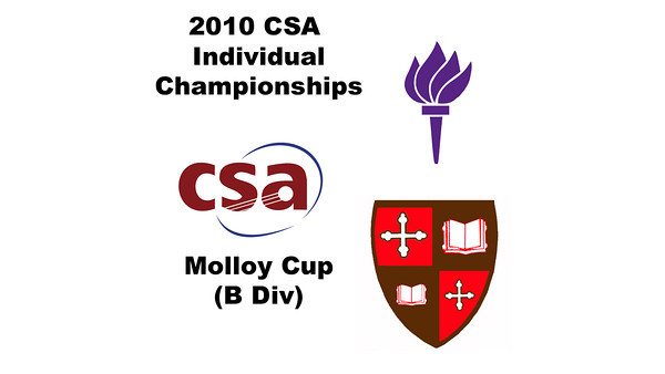 2010 CSA Individuals - Molloy Cup(B Div) Con Semis:  Amay Merchant (St. Lawrence) and Anthony Zou (NYU)