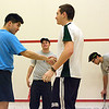 Yen Theng Tan (Johns Hopkins) and Alex Margolick (Tulane). Steven Peever (Johns Hopkins) in the background.