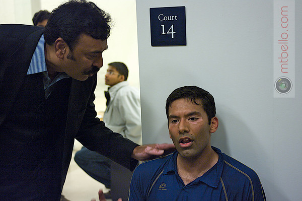 Baset Chaudhry after the match