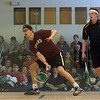 Colin West (Harvard) and Todd Harrity (Princeton)<br /> <br /> This photo was published in the March 2010 issue of Squash Magazine (page 30).