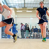Elena Laird (Middlebury) and Meg Oliverio (Smith College)<br /> <br /> Published on page 11 of the 2011 Women's College Squash Association National Team Championship Program.