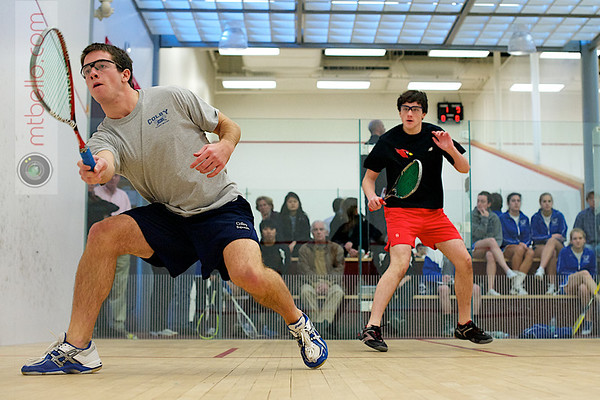 John Steele (Wesleyan) and Harry Smith (Colby)<br /> <br /> Published on page 6 of the 2011 Men's College Squash Association National Team Championship Program.