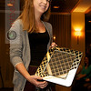 Amherst's Mimi Bell accepts the 2011 Wetzel Award (Best Senior Player to Learn Squash in College)