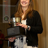 Yale's Logan Greer accepts the 2011 Richey Award (Player and Sportswoman of the Year)