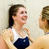 Kimberley Hay being congratulated. Her 3-1 victory gave Yale a 5-4 victory over Harvard and the National Championship