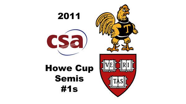 2011 Howe Cup - #1s: Laura Gemmell (Harvard) and Catalina Pelaez (Trinity)  Part 3