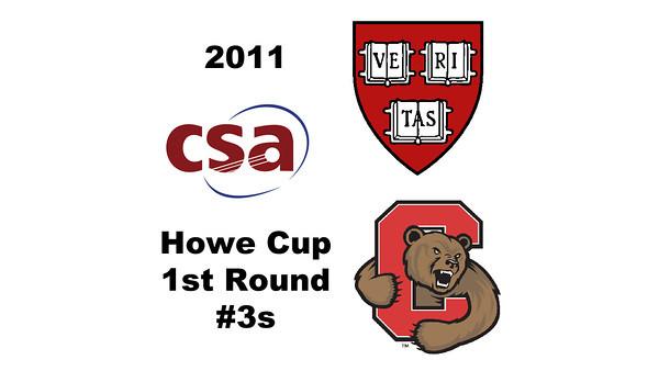 2011 Howe Cup - First Round - #3s: Alisha Mashruwala (Harvard) and Jesse Pacheco (Cornell)  Part 1