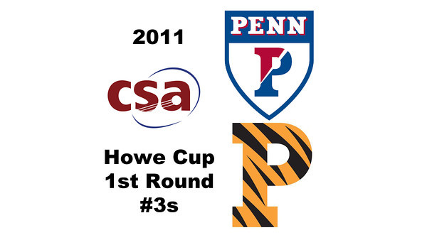 2011 Howe Cup - First Round - #3s: Elizabeth Eyre (Princeton) and Anne Madeira (Penn)  Part 1