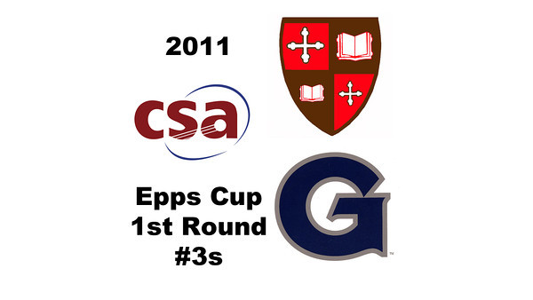 2011 Epps Cup - First Round - #3s: Carolyn Meister (Georgetown) and Molly Caplan (St. Lawrence)