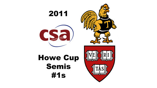 2011 Howe Cup - Semis - #1s: Laura Gemmell (Harvard) and Catalina Pelaez (Trinity)  Part 2
