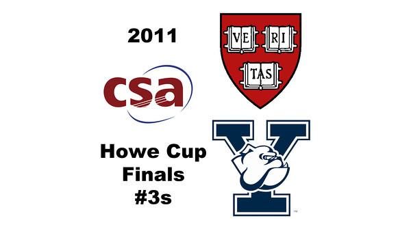 2011 Howe Cup - Finals - #3s: Sarah Toomey (Yale) and Alisha Mashruwala (Harvard)  Part 1