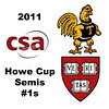 2011 Howe Cup  - Semis - #1s: Laura Gemmell (Harvard) and Catalina Pelaez (Trinity)<br /> <br /> Part 1