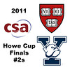 2011 Howe Cup - Finals - #2s: Millie Tomlinson (Yale) and Nirasha Guruge (Harvard)<br /> <br /> Part 2