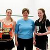 2011 Holleran Cup Final: Katie Giovinazzo (Princeton), Demer Holleran, and Alexandra Sawin (Princeton)