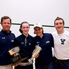 2011 Ramsay Cup Trophies: Millie Tomlinson (Yale), Dave Talbott, Pam Saunders, Garth Webber