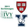 2011 Ivy League Scrimmages (Women): #3s Haley Mendez (Harvard) and Rhetta Nadas (Yale)
