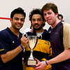 Parth Sharma, Andres Vargas, and Travis Jetson with the Potter Cup