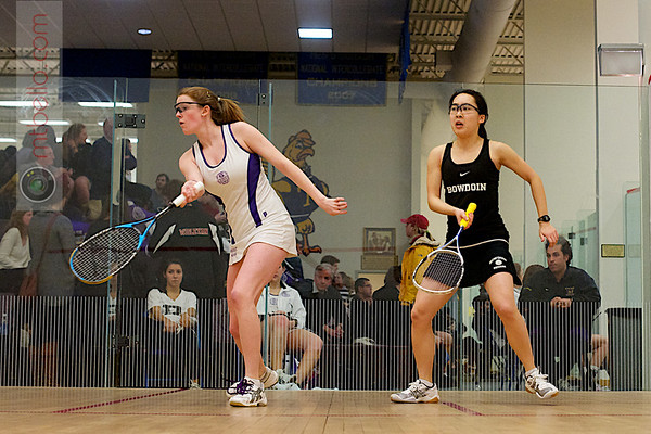 Bonnie Cao (Bowdoin) and Kate Savage (Amherst)