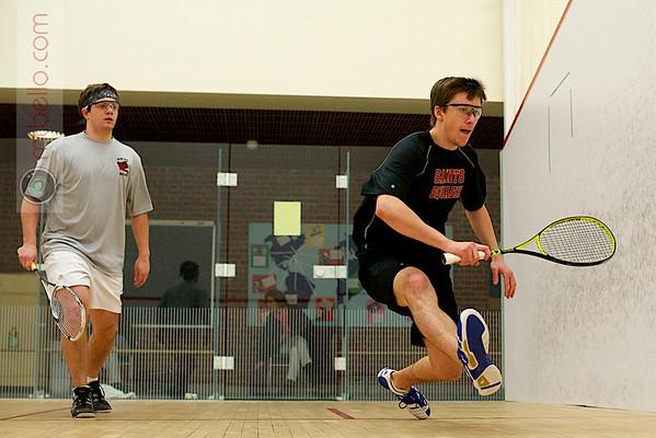 Thomas Kraft (St. Lawrence) and Matt Baker-White (Bates)