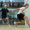 Mauricio Munez Sedano (F&M) and Bobby Burns (Bates)<br /> <br /> Published on page 11 of the 2011 Men's College Squash Association National Team Championship Program.