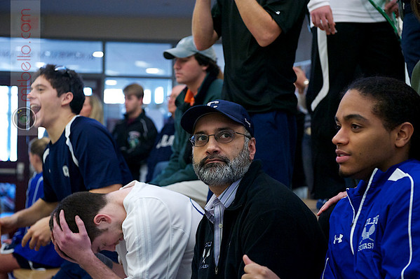 2011 Wesleyan Round Robin: Colby's Sakhi Khan moments after the conclusion of the Harry Smith (Colby) and Caleb Garza (Conn)