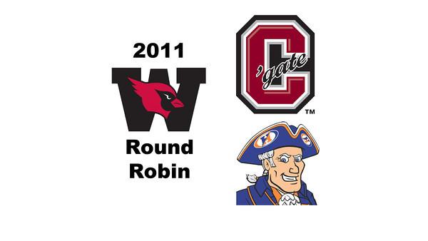 2011 Wesleyan Round Robin: #1s Casey Kabot (Hobart) and Gary Huffard (Colgate)